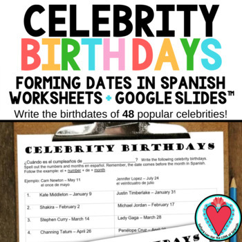 Celebrity Birthdays in Spanish - Spanish Numbers and Dates