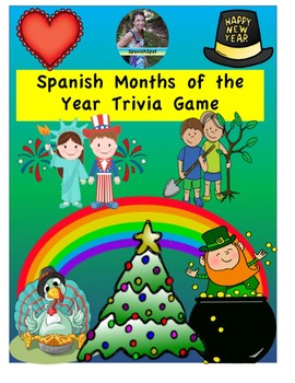 Spanish Months of the Year Trivia Game