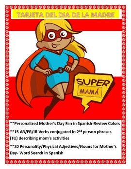 Spanish Mother's Day - Students Make a Fan Card for MOM -