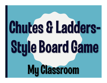 Spanish My Classroom Chutes and Ladders-Style Game