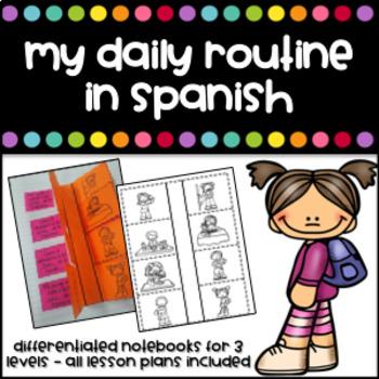 Mi rutina diaria - Interactive Notebook (My daily routine