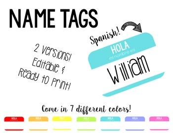 Spanish Name Tags