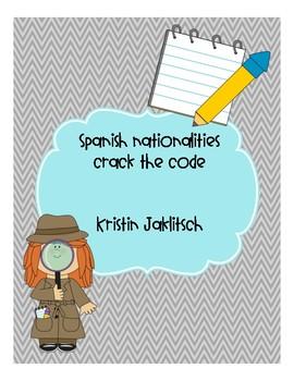Spanish Nationalities - Crack the Code!