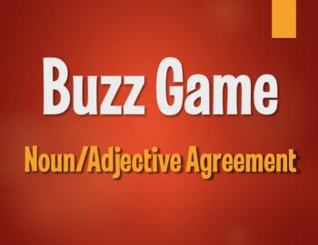 Spanish Noun Adjective Agreement Buzz Game