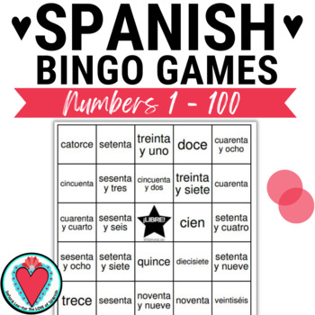 Spanish Number Bingo - 12 to 100!