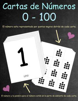 Spanish Number Cards /Cartas de Números 0-100