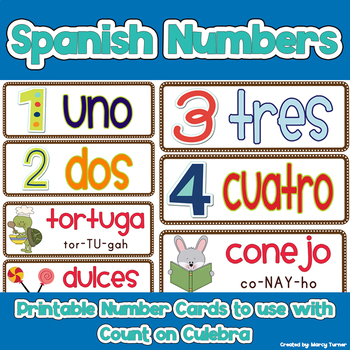 Spanish Number Cards - Use With Count on Culebra