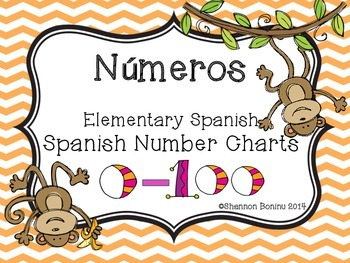 Spanish Number Charts 0-100