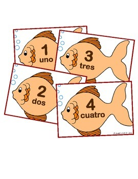Spanish Number Flash Cards