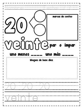 Spanish Number Practice 0-20