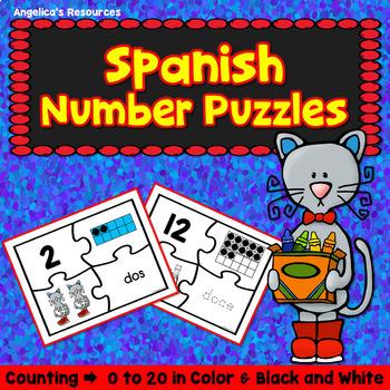 Matemáticas: Rompecabezas de Numeros -  Spanish Number Puzzles
