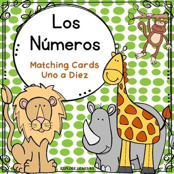 Spanish Number Word Matching Cards / Zoo Theme / Montessori Style