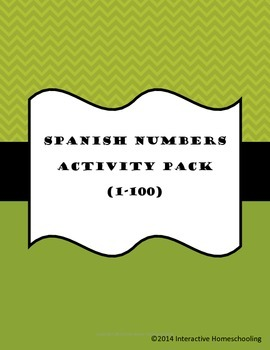 Spanish Numbers 1-100 Activity Pack