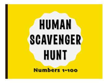 Spanish Numbers 1-100 Human Scavenger Hunt