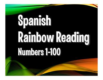 Spanish Numbers 1-100 Rainbow Reading