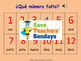 Spanish Numbers 1-12 Lesson plan, PowerPoint (with audio),