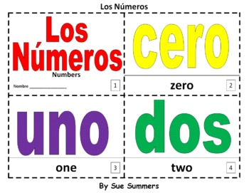 Spanish Numbers 2 Bilingual Coloring Booklets - Los Número