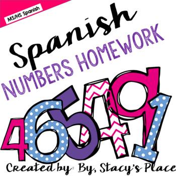 Spanish Numbers Homework