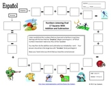 Spanish Numbers and Math Listening Activity - Football Theme
