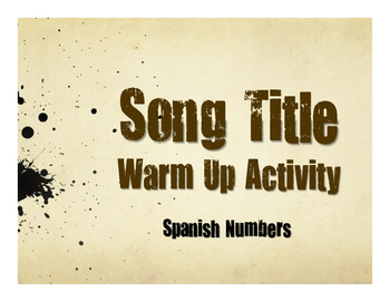 Spanish Numbers Song Titles