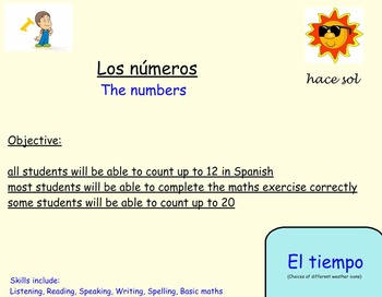Spanish Numbers up to 20