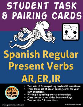 Spanish Task Cards and Pairing Cards * Verbos Regulares en