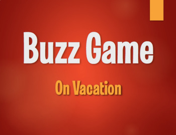 Spanish On Vacation Buzz Game