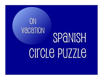 Spanish On Vacation Circle Puzzle