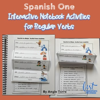 Spanish One Interactive Notebook for Regular Verbs