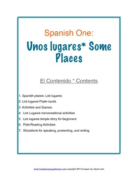 Spanish One: Unos Lugares- Some Places