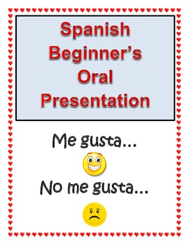 Spanish Oral Presentation for beginners