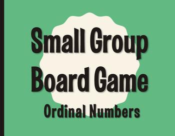 Spanish Ordinal Numbers Board Game