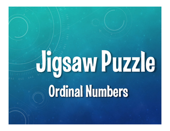 Spanish Ordinal Numbers Jigsaw Puzzle