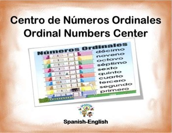 Spanish Math Ordinal Numbers / Numeros Ordinales in a Stat