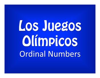 Spanish Ordinal Numbers Olympics