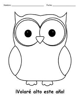 Spanish Owl Coloring Page - Colorea un búho