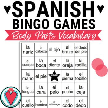 Spanish Parts of the Body BINGO