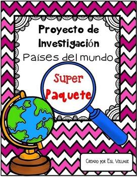 In Spanish | Países del mundo | BUNDLE  {Proyecto de Inves