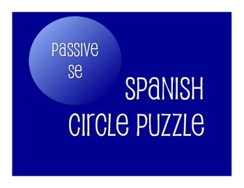 Spanish Passive Se Circle Puzzle