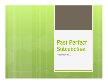 Spanish Past Perfect Subjunctive Notes