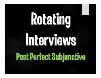 Spanish Past Perfect Subjunctive Rotating Interviews