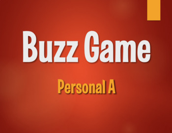 Spanish Personal A Buzz Game