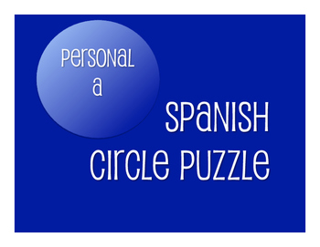 Spanish Personal A Circle Puzzle
