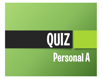 Spanish Personal A Quiz
