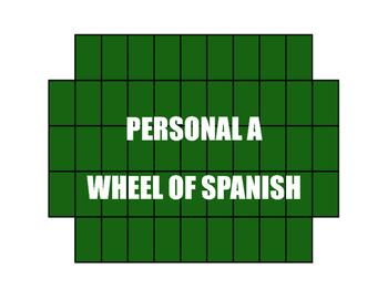 Spanish Personal A Wheel of Spanish
