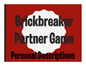 Spanish Personal Descriptions Brickbreaker Game