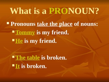 Spanish Personal Pronouns PowerPoint