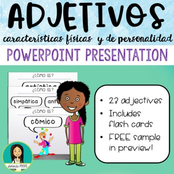 Spanish Personality Adjectives PowerPoint
