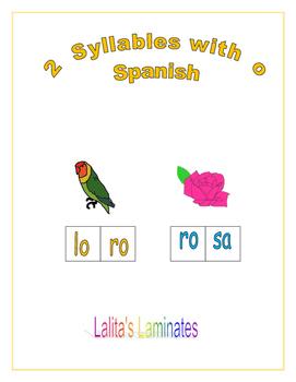 Spanish Phonics 2 syllable o words