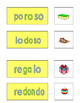 Spanish Phonics 3 syllable o word cards